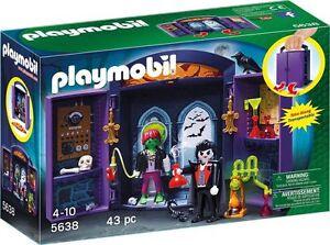 PLAYMOBIL-5638-Laboratorio-de-Dracula-Halloween-Frankenstein-Castillo-NUEVO