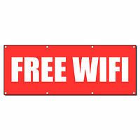 Free Wifi Promotion Business Sign Banner 3' X 6' W/ 6 Grommets