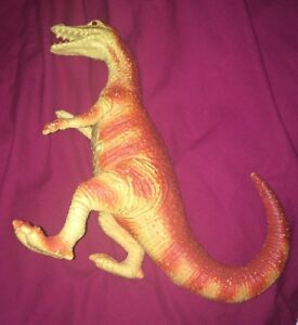 """Cheap Price Vtg 9"""" Tall 1997 Imperial Light Up Eyes Roars Dinosaur Toy Figure 90s Exquisite Craftsmanship; Action Figures"""