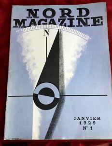 Rare Nord N°1 Magazine  Signé Cassandre Dans La Planche 1929