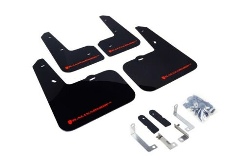 RALLY ARMOR UR MUD FLAPS FOR 2012-2017 VELOSTER TURBO /& NON-TURBO BLACK RED