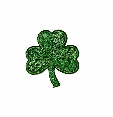 Shamrock 3 Leaf Clover Irish St. Patrick Embroidered Iron On Patch Applique