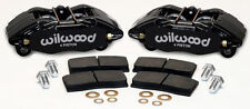WILWOOD DPHA BRAKE CALIPER & PAD SET,FRONT STOCK REPLACEMENT,HONDA,ACURA,BLACK