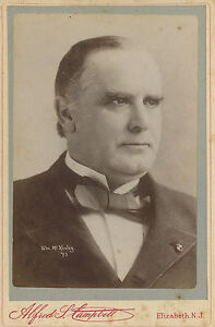 Image Is Loading ANTIQUE PRESIDENT WILLIAM McKINLEY CABINET  CARD PHOTOGRAPH CAMPBELL