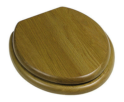 * Heritage FOA100 Toilet seat Oak With Vintage Gold Hinges