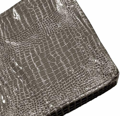 pd1018t Chocolate Faux Crocodile Glossy Leather 3D Box Sofa Seat Cushion Cover