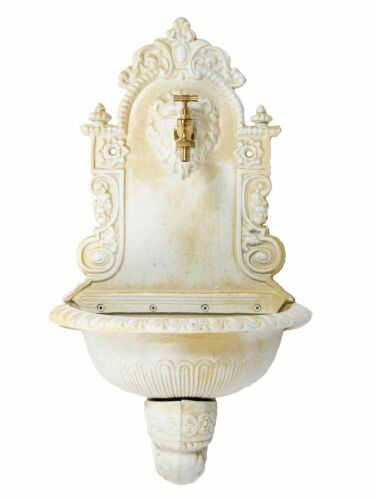"""antique white Fountain with basin iron 2/'6/"""" antique style 76cm"""