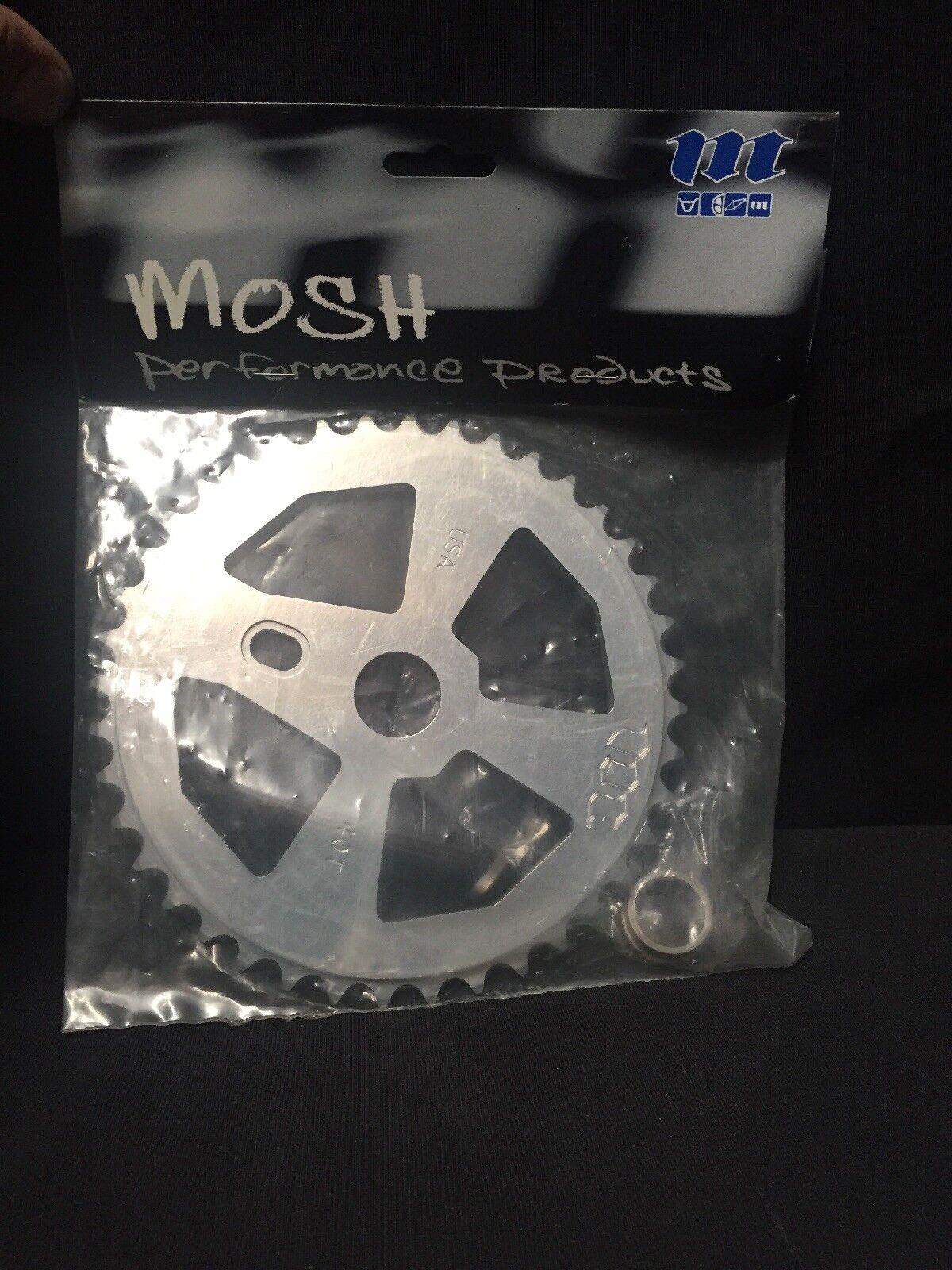Nuevo viejo stock años 90 MOSH 40t Aleación CNC ChainWheel BMX Piñón Usa Expert XL Rave Pro Gt