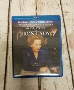 The Iron Lady (Blu-ray/DVD, 2012, 3-Disc Set, W/Digital Copy) Mint Discs