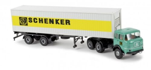 1//87 Brekina Krupp SF 380 mit Container Schenker 84123