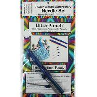 Ultra Punch Needle Embroidery 3 Needle Set-large, Medium And Small