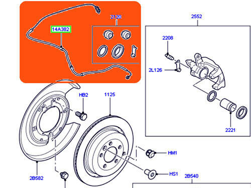 Original Land Rover Sensor De Pastilha De Freio Dianteiro Wear aviso LR3 LR4 Novo SEM500070