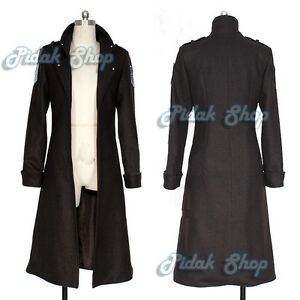 ATTACK-ON-TITAN-cosplay-Shingeki-no-Kyojin-Levi-Rivaille-coat-cappotto-scouting