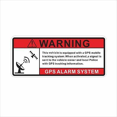 Sticker Gps Alarm System Warning Decal Car Vehicle Security Helmet Decor Hot