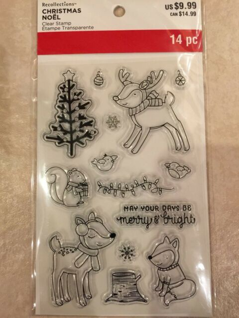 Christmas Reindeer Clear Stamps /& Dies By Recollections™ 565176 NEW