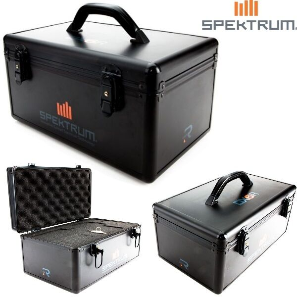 Spektrum SPM6719 DX6R Transmitter Case   Aluminum Case