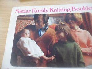 DéSintéRessé Vintage Rare Années 1970 Sirdar Knitting Pattern Livret 6 Designs-afficher Le Titre D'origine