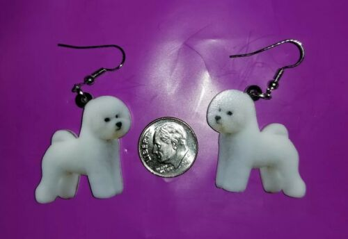 Bichon Frise  Dog  lightweight fun earrings  jewelry FREE SHIPPING!