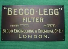 Genuine in ottone Vintage Industrial Antico Segno Placca becco ingegneria chimica