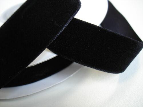 negro 10 yardas terciopelo banda 12 mm