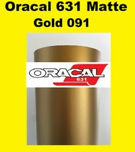 "Oracal 631 Matte Gold 091  Sign Vinyl Indoor Wall Stickers 12""x 10 ft"