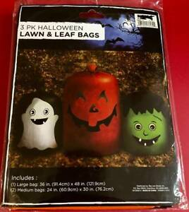 you pick assorted new in package Halloween themed pumpkin lawn and leaf bags