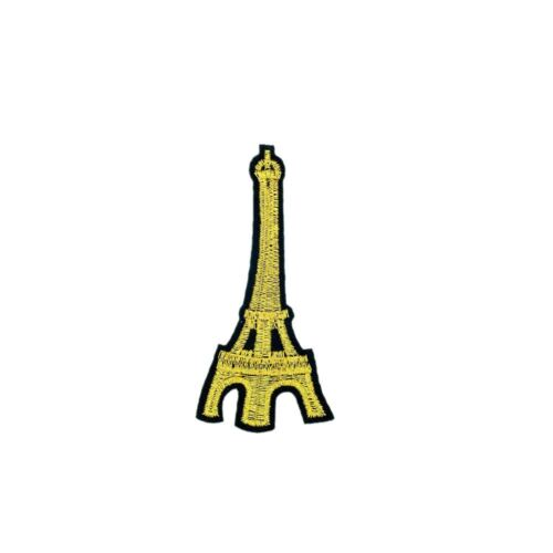 Golden Eifel Tower Embroidery Applique Patch Sew Iron Badge Iron On