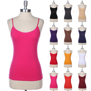 5d13dafe1b8dde Image is loading Women-039-s-Layering-Cotton-Basic-Camisole-Spaghetti-