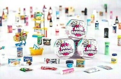 5 Surprise Mini Brands Zuru Capsules Miniature Collectibles Sealed Qty 6 Balls