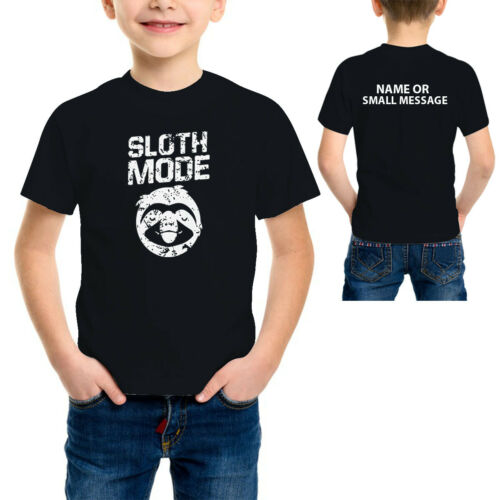 Sloth Mode Funny Lazy Childrens Kids Boys Girls Printed T-shirt Casual Gift Tee