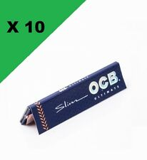 OCB Slim ultimate lot de 10 carnets de feuille a rouler LES PLUS FINES DU MONDE