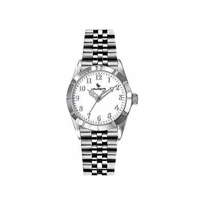 Orologio LAURENS 027041AA Bracciale Acciaio Bianco Classico Uomo Donna Unisex