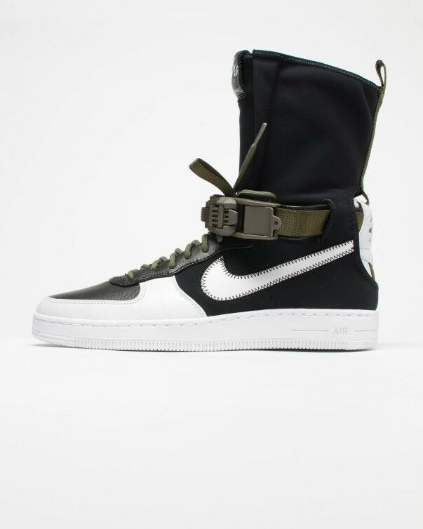 Nike MEN'S AF1 Downtown Hi SP ACRONYM Black White Medium Olive SIZE 13 BRAND NEW