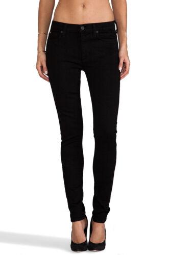 Hudson Women/'s Nico Mid Rise Black Stretchy Super Model Super Skinny Jeans sz 27