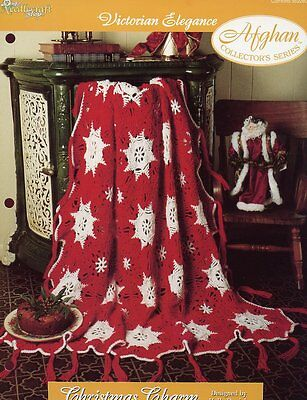 Christmas Charm Afghan Victorian Elegance Crochet Pattern -30 Days To Shop & Pay