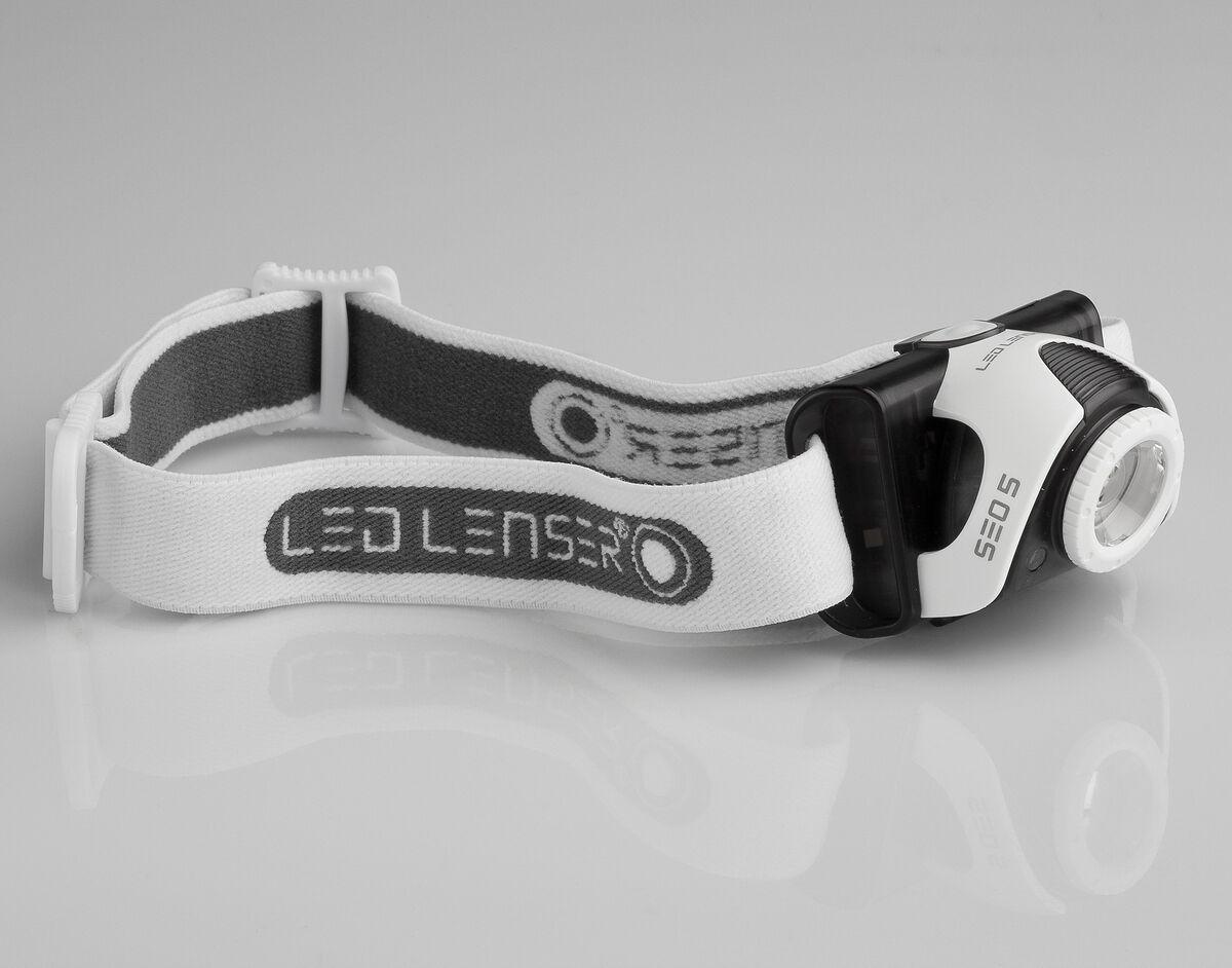 LED Lenser Stirnlampe SEO 5 LED Kopflampe, 180 Lumen, 120 m Leuchtweite