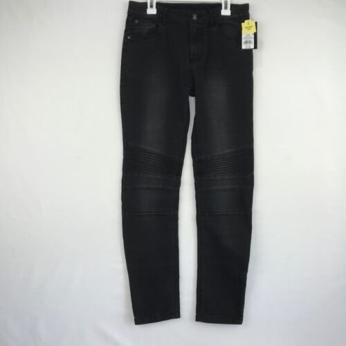 Art Class Boys Size 8 Skinny Jeans Faded Black Adjustable Waist with Knee Detail