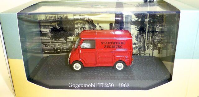 Goggomobil TL250 1963 Stadtwerke Augsburg 1:43 Atlas 7421104 Neuf Ovp #LJ5 Μ