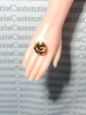 BARBIE DOLL JEWELRY PUMA DESIGNER LOGO GOLD RING ACCESSORY FOR DOLL