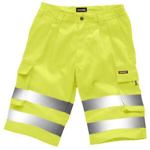 StandSafe Hi Vis Polycotton Cargo Combat Multipocket Pants HV027 Work Shorts