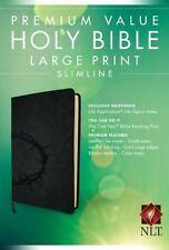 Premium Value Slimline Bible Large Print NLT, Crown (2016, Imitation Leather)