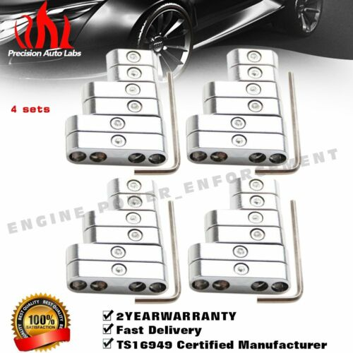 4 sets Chrome Wire Separators Spark Plug Dividers Looms Ignition 7//8mm For Ford