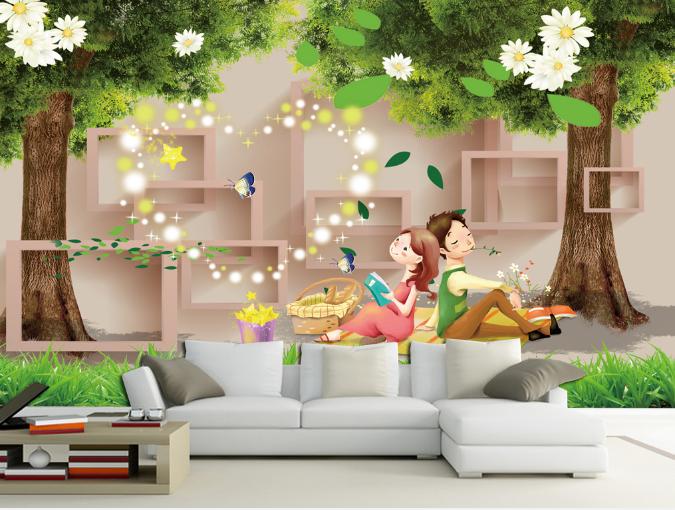 3D Liebhaber Landschaft 7992 Tapete Wandgemälde Tapeten Bild Familie DE Summer
