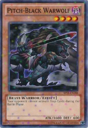 Starfoil Rare Unlimited New Epic Dawn 4x Pitch-Black Warwolf BP01-EN188