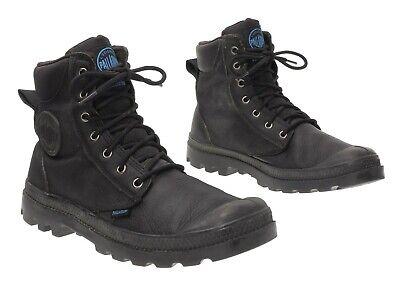 palladium black leather boots