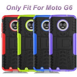 For-Motorola-Moto-G6-Case-Liquid-Glitte-amp-Kickstand-Shockproof-Rugged-Cover