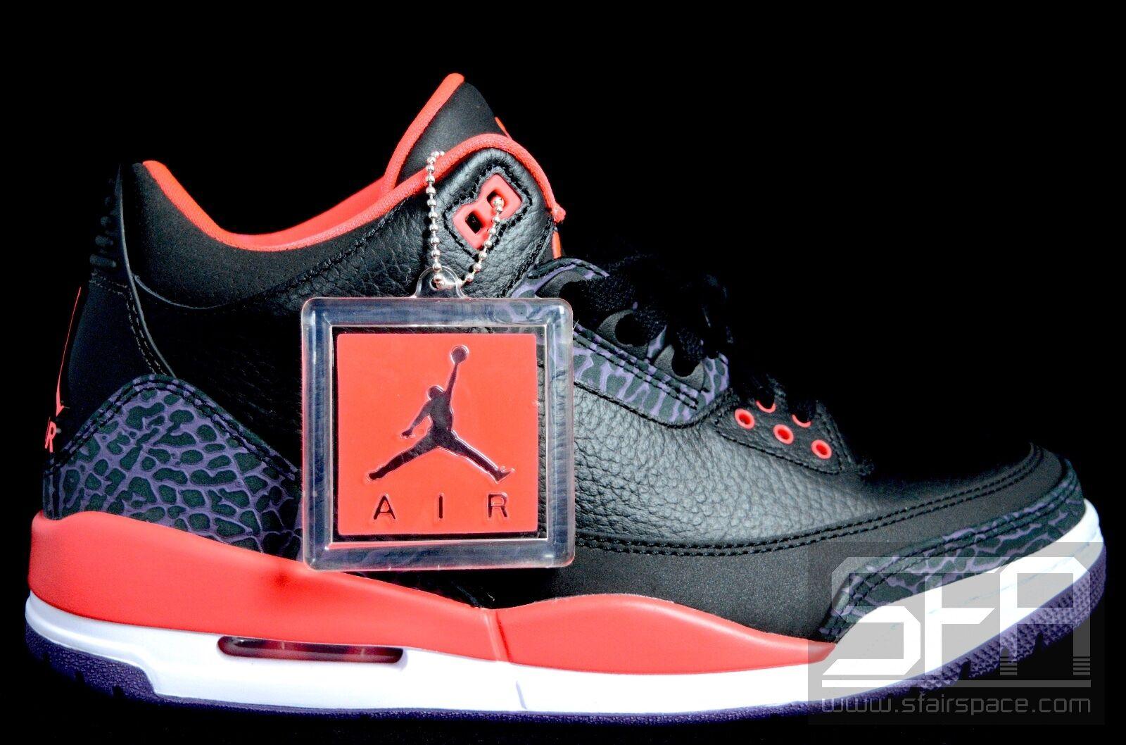 huge discount 84a4d bd47f ... zapatos para hombres y mujeres,. 2018 Nike Air Jordan 3 retro 9,5 9,5  9,5 Negro