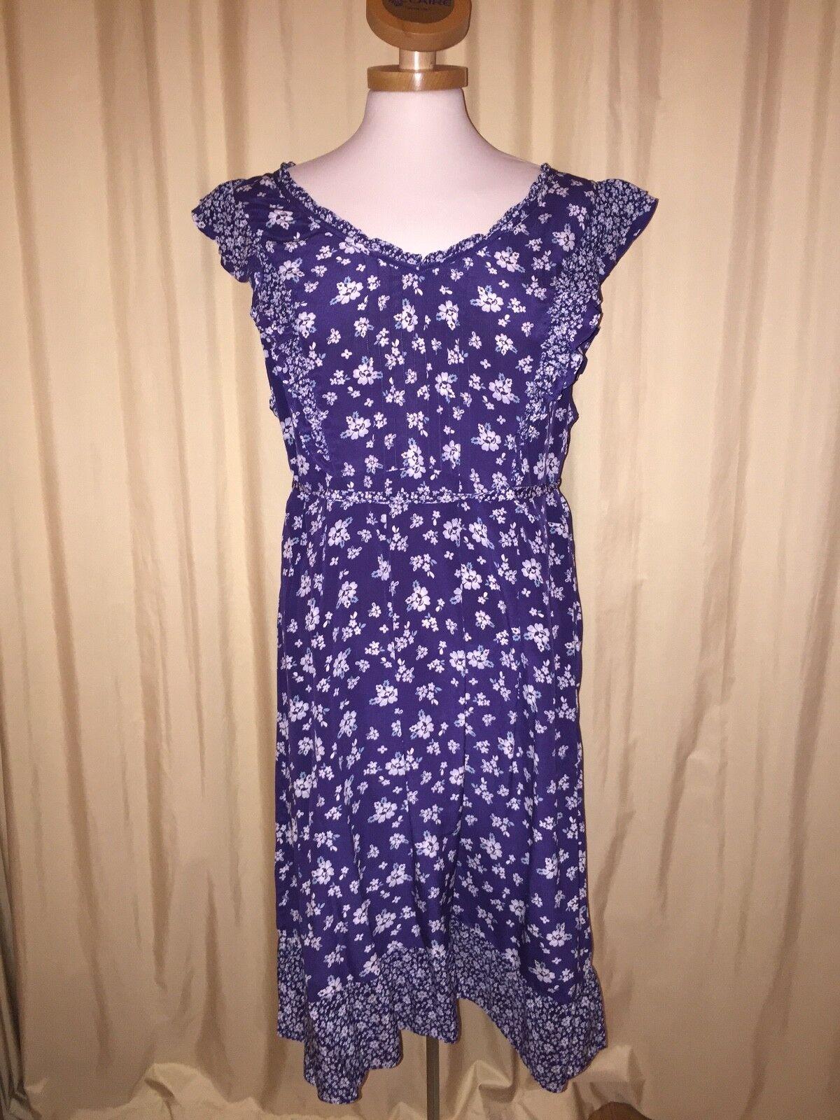 blau-weißes Kleid von Monsoon gr 48 100% Seide