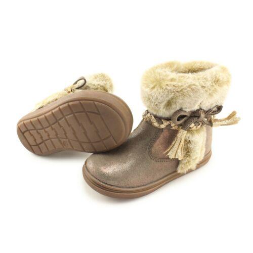 Iforta Beige Bopy Girls Warm Winter Leather Boots