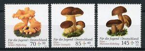 Germania-2018-Gomma-integra-non-linguellato-funghi-per-la-gioventu-3v-Set-FUNGHI-FUNGO-NATURA